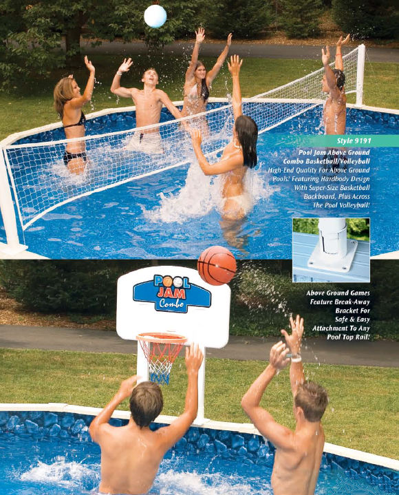 Pool Jam Above Ground Volleyball Basketball Game North West Wholesale Swimming Pool Spas