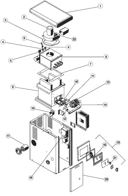 Hayward H100 Series Heater Parts
